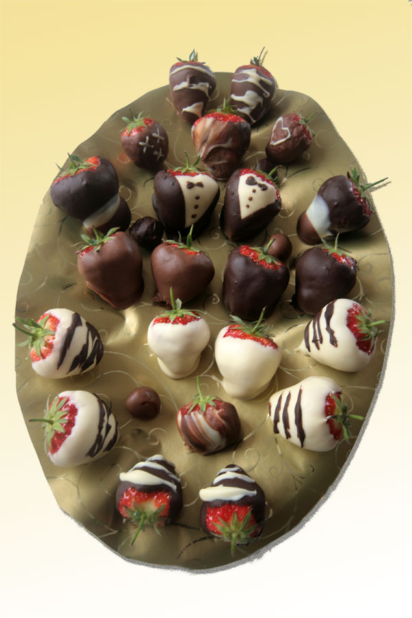 Chocolate dipped strawberries from Old Malt HOuse Hotel in Bath